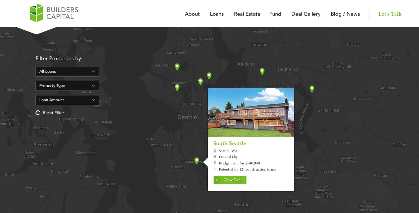 Builders Capital Funded Showcase Map Jordan Crown Web Design