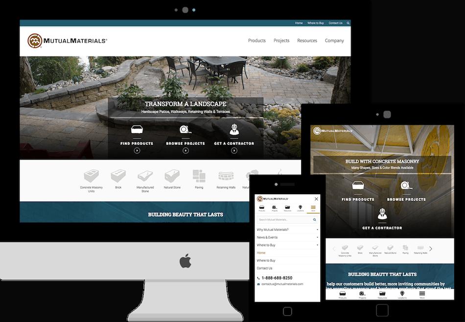 Building Material Website Design Jordan Crown